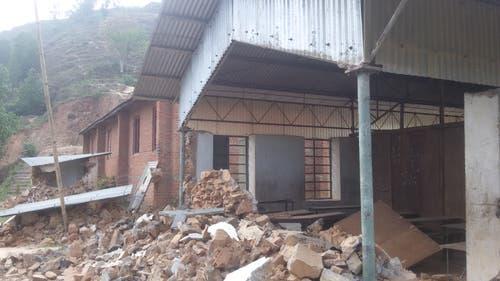 Das verheerende Erdbeben richtete massive Schäden an. (Bild: PD)
