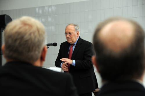Besuch von Bundesrat Johann Schneider-Ammann am FDP-Partetag Obwalden in der Käserei Seiler in Giswil. (Bild: Markus von Rotz (Giswil, 31. Oktober 2018))