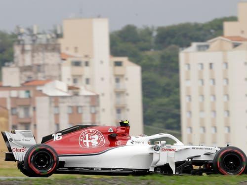 Charles Leclerc zeigte auch in Brasilien einmal mehr ein starkes Qualifying (Bild: KEYSTONE/AP/ANDRE PENNER)