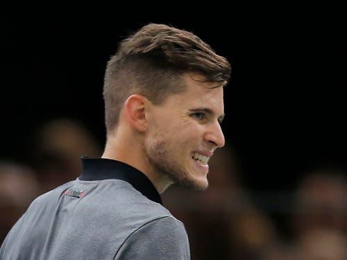 Federers zweiter Gegner, der Österreicher Dominic Thiem, hat seine Stärken auf Sand (Bild: KEYSTONE/AP/MICHEL EULER)