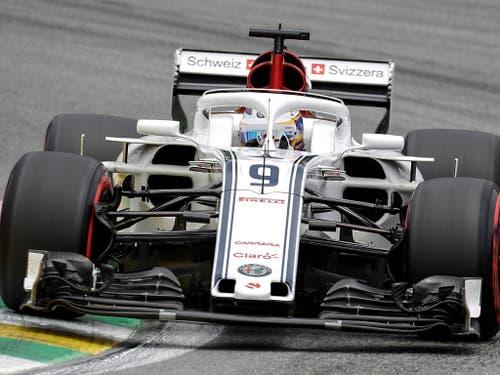 Marcus Ericsson musste das Rennen nach 20 Runden aufgeben (Bild: KEYSTONE/EPA EFE/SEBASTIAO MOREIRA)
