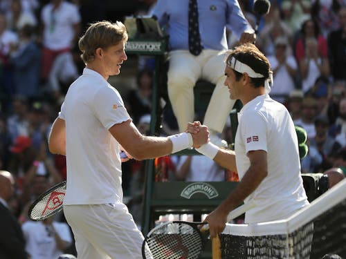 Aufschlaghüne Kevin Anderson fügte Federer in Wimbledon die bitterste Niederlage des Jahres zu (Bild: KEYSTONE/AP/BEN CURTIS)