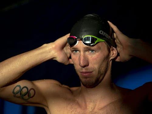 Jérémy Desplanches schwamm an den Langbahn-Europameisterschaften im August über 200 m Lagen souverän zu Gold und war damit erst der zweite Schweizer Schwimm-Europameister nach Flavia Rigamonti (Bild: Keystone/PATRICK B. KRAEMER)