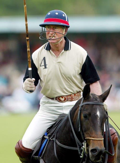 Der Kronprinz am Weltklasse-Poloturnier vom 29. Mai 2018 in Ewhurst, Surrey. Charles hat jetzt aus Altersgründen aufgehört, Polo zu spielen. Das wurde am 17. November bekannt gegeben. (Bild: Archiv/EPA/GERRY PENNY)