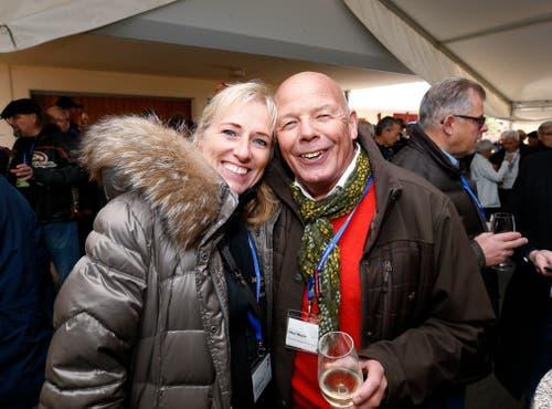 Im Bild: Bernadette Zemp und Heri Meyer. (Bild: Stefan Kaiser (Zug, 15. November 2018))