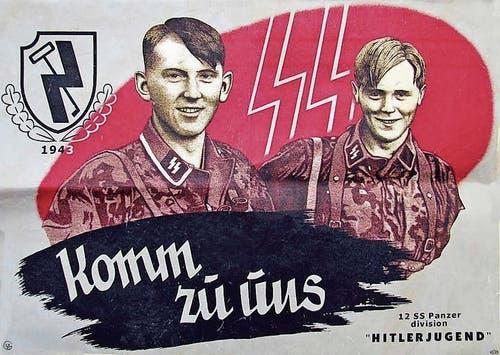 Zwei Illustrationen aus dem Buch: Werbung für die Hitlerjugend 1943... (Bild: PD)
