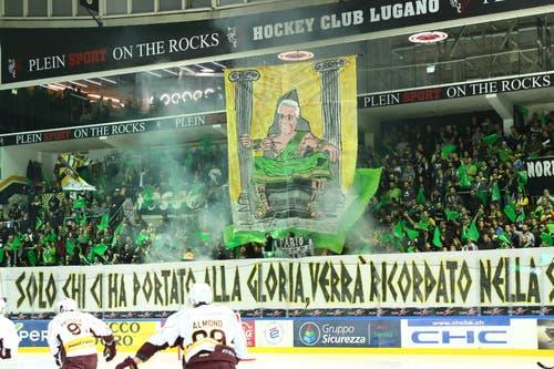 Die Fans ehren Geo Mantegazza (Bild: Marusca Rezzonico / Freshfocus)