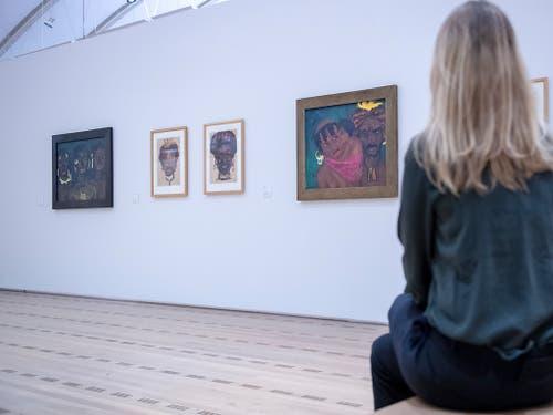 Nolde liess sich auf seinen Reisen auch von der indigenen Bevölkerung inspirieren. Er begriff ihre Werke durchaus als Kunst, doch die Menschen selber blieben für ihn als zivilisierten Europäer «Wilde». (Bild: KEYSTONE/MARCEL BIERI)