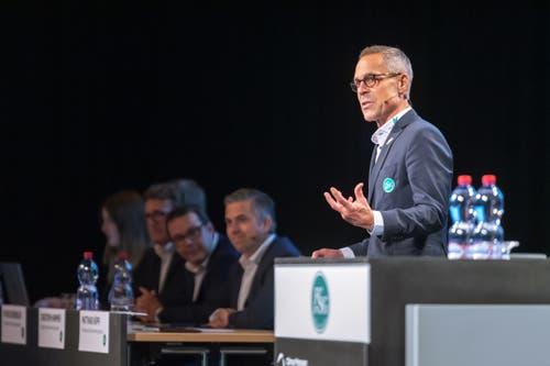 Matthias Hüppi bei seiner leidenschaftlichen Ansprache.