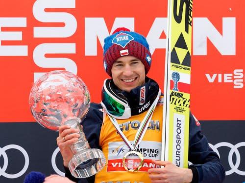 Kamil Stoch aus Polen - der Überflieger der Skisprung-Szene startet am Wochenende in seiner Heimat zur neuen Saison (Bild: KEYSTONE/EPA/ANTONIO BAT)