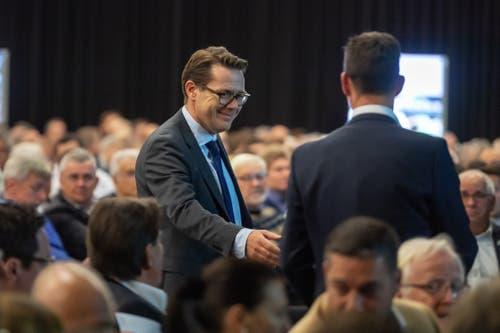 Auch Regierungsrat Benedikt Würth kam zur FCSG-GV.