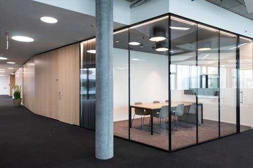 Sitzungszimmer im neuen Hauptsitz. (Bild: Keystone/Gian Ehrenzeller)