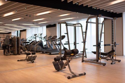 Fitnessstudio im neuen Hauptsitz. (Bild: Keystone/Gian Ehrenzeller)