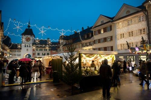 In diesem Jahr findet der Markt vom 7. bis 9. Dezember statt. (Bild: Boris Bürgisser, Willisau, 4. Dezember 2015)