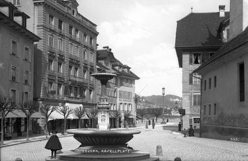 Der Fritschi-Brunnen von 1864 / 65. Bild: Stadtarchiv.