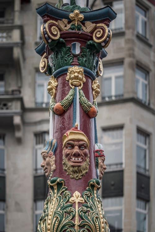 Detailansicht des heutigen Fritschibrunnen. (Bild: Pius Amrein (Luzern, 13. November 2018)