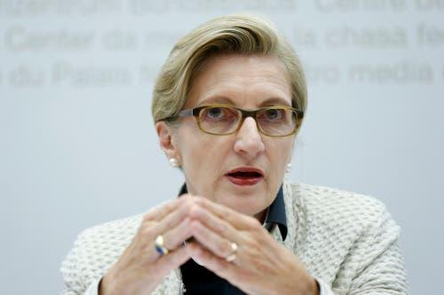 Über die Kontakte von Gabi Huber, alt Nationalrätin und früherer Fraktionschefin der FDP, und Franz Steinegger hat Heidi Z'graggen auch einen Draht zu den Freisinnigen. (Bild: Peter Klaunzer / Keystone (Bern, 9. September 2015)