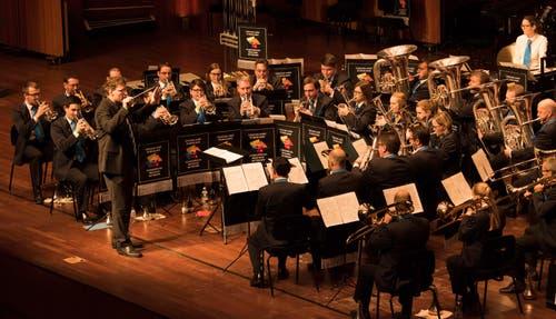Das Ensemble der Brass Band Schötz.