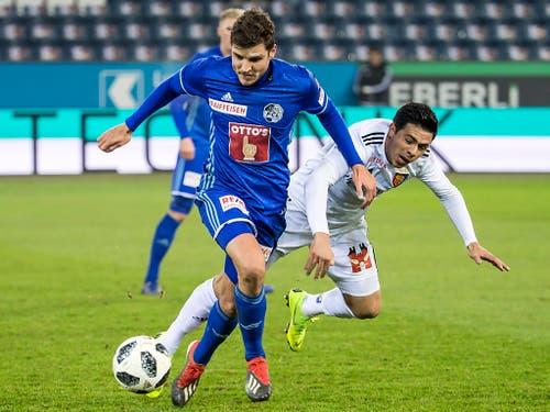 Pascal Schürpf brachte Luzern früh in Führung (Bild: KEYSTONE/ALEXANDRA WEY)
