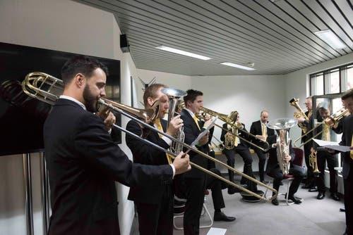 Die Töne werden getroffen bei der Brass Band Bürgermusik Luzern.