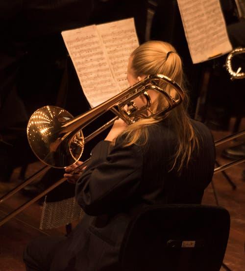 Ebenfalls in der 1. Klasse: die Brass Band Schötz.