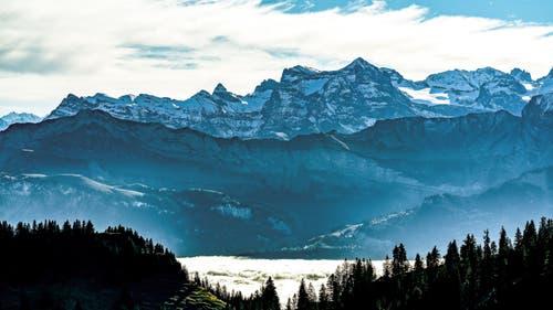 Innerschweizer Alpen. Bild: Stefan Kunz (Rigi, 25. November 2018)