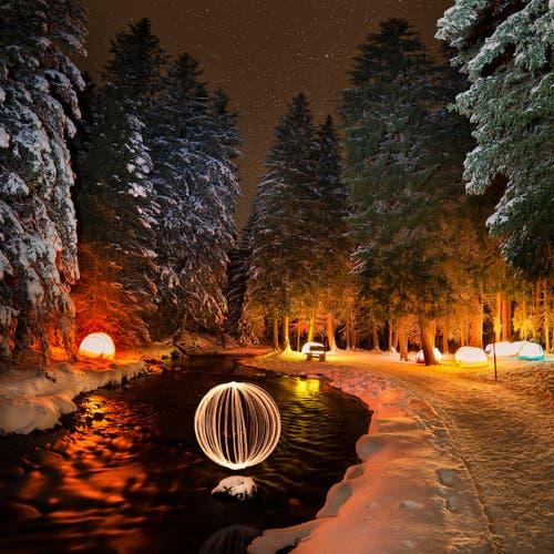 Auch beim Projekt «Zauberwald» auf der Lenzerheide mischt die Projektgruppe mit. (Bild: PD)