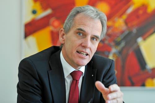 Sven Bradke ist als Vizepräsident der FDP St. Gallen eine zentrale Figur in der Kantonalpartei. Zudem ist er Geschäftsführer und Verwaltungsratspräsident eines Unternehmens für Wirtschafts- und Kommunikationsberatung mit Sitz in St. Gallen. (Bild: Reto Martin (Tägerwilen, 5. Oktober 2012))