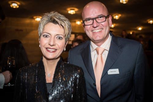 Morten Keller und Karin Keller-Sutter lernten sich in einer Wiler Beiz kennen – inzwischen sind sie seit fast 30 Jahren verheiratet. Der Rechtsmediziner Keller ist Direktor der Gesundheitsdienste der Stadt Zürich. (Bild: Benjamin Manser (St. Gallen, 22. März 2013))