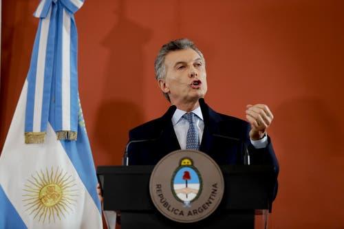Argentiniens Präsident Mauricio Macri. (Bild: Natacha Pisarenko/AP (Buenos Aires, 27. September 2018))