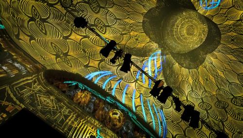 Bei der Eröffnung des Theater Casino in Zug waren die Installationen von Projektil ebenfalls zu bestaunen. (Bild: PD)