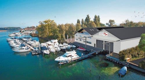 So soll die neue Werkhalle der Krüger Werft aussehen. (Bild: PD)