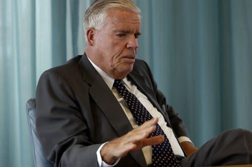 Platz 5: Klaus-Michael Kühne. Mit dem Transportunternehmen Kühne und Nagel hat er es zu 9 bis 10 Milliarden Franken gebracht. (Bild: Patrik Pauli (Schindellegi, 25. April 2006))