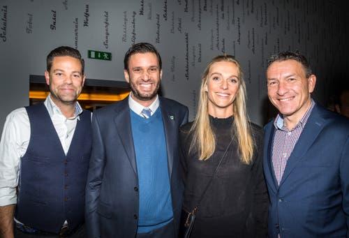 Sportlich:. Lukas Studer, Adrian Fetscherin, Annette Fetscherin und Dani Kern.