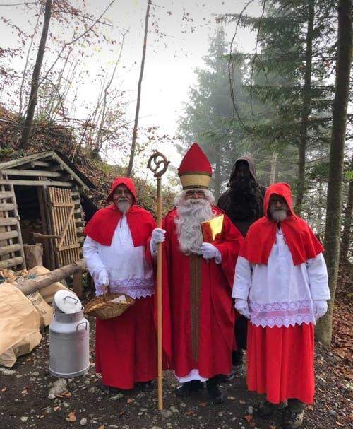 Schön wars beim Samichlaus im Wald. Bild: Robert Lussi (Stans, 30. November 2018))