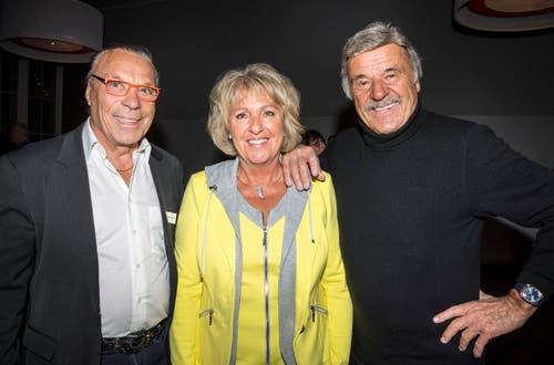 Musiker Kurt Oberländer, Brigitte Fröhli und Unternehmer Hausi Leutenegger.