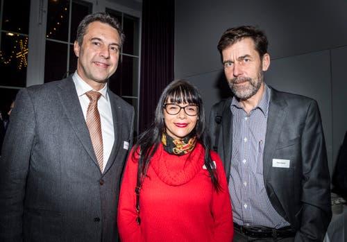 Gerhard Dammann, Direktor der Psychiatrischen Klinik Münsterlingen und die Schriftsteller, Tanja Kummer und Peter Stamm.