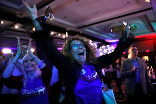 Die Freude bei den Demokraten ist gross. (Bild: AP/Jacquelyn Martin, Washington, 6. November 2018)