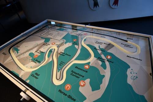 Blick auf eine interaktive Karte eines Bob-Runs. Bild: PD
