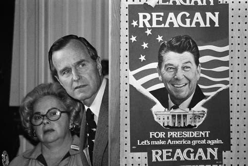 George H.W. Bush bei einer Wahlveranstaltung. (Bild: AP Photo, File)