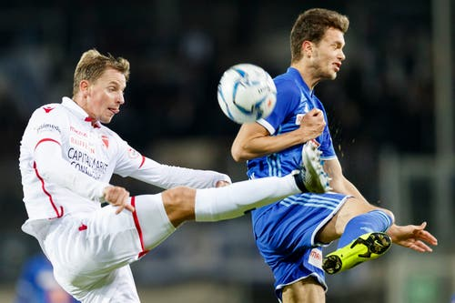 Shkelqim Demhasaj im Spiel gegen den FC Sion. (KEYSTONE/Cyril Zingaro)