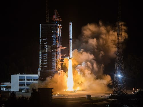 Teil des sehr aktiven Mondprogramms der Chinesen ist die Mondsonde «Chang'e 4». (Archiv). (Bild: KEYSTONE/EPA/STRINGER)