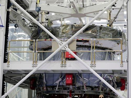 Die europäische Raumfahrtorganisation Esa lieferte kürzlich ein Servicemodul (im Bild) für die US-Raumkapsel «Orion». (Bild: KEYSTONE/AP/JOHN RAOUX)