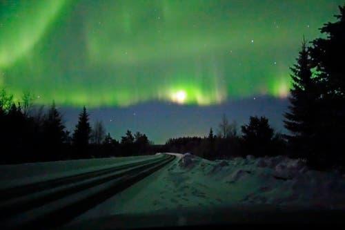 Kalt und klar muss es sein, dann können Polarlichter am Nordhimmel aufleuchten.
