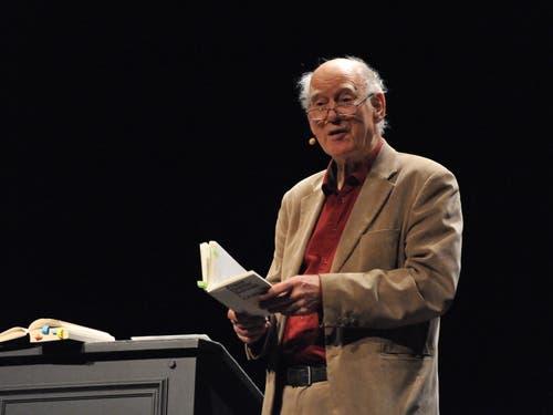 Franz Hohler trat nochmals im Theater Uri auf. (Bild: Urs Hanhart, 20.11.2018)