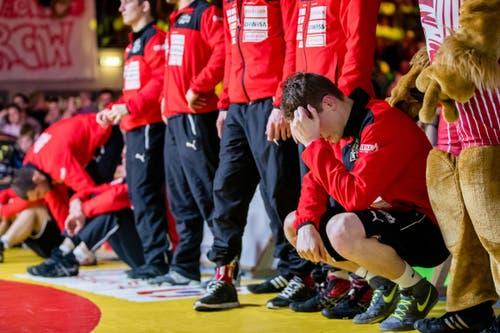 Enttäuschung bei den Lions Willisau nach der Finalniederlage.