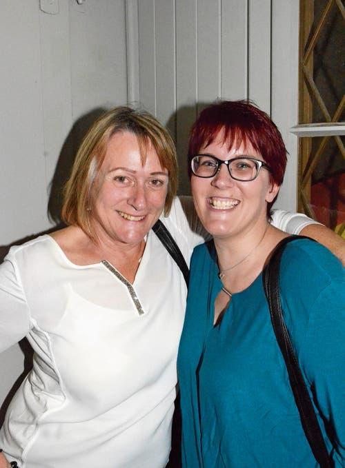 Gut drauf: Stephanie Pfäffli und Sandra Grünenfelder.