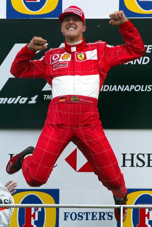 Michael Schumacher gewinnt den US Grand Prix in Indianapolis am 28. September 2003. (Bild: EPA PHOTO/dpa/GERO BRELOER)