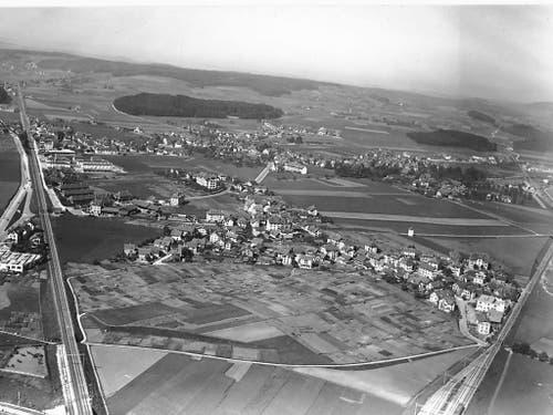 Grosse Landreserven im Westen der Stand Bern. Luftaufnahme von Bümpliz aus dem Jahre 1934. (Bild: zvg/Stadt Bern)