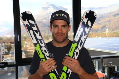 3. März und 17. Dezember: In Sunny Valley (Russland) und Arosa fuhr der Gamser Skicrosser Jonas Lenherr zu seinen Weltcupsiegen Nummern zwei und drei. Bild: Robert Kucera